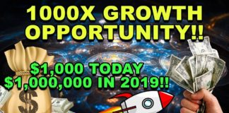 1000X OPPORTUNITY! - This CryptoCurrency Could 1000X by 2019!