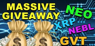 Massive CryptoCurrency Giveaway! - NEO GVT XRP NEBL Crypto - 100,000 Subscriber Giveaway